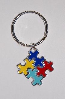 Puzzle Piece Key Chain